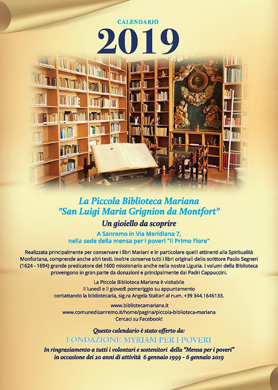 Calendario Fondazione myriam 2019